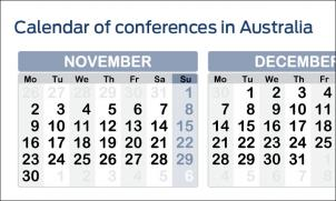 Calendar of conferences in Australia and New Zealand  cover image