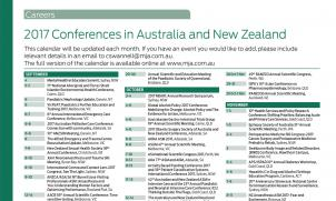 2017 Conferences in Australia and New Zealand